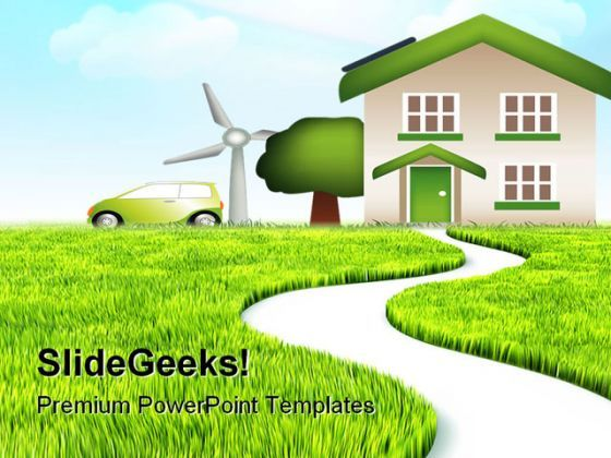 Path In Grass Nature Powerpoint Templates And Powerpoint