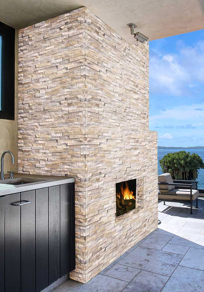 Arctic Golden Panel Stacked Stone Stacked Stone Ledger