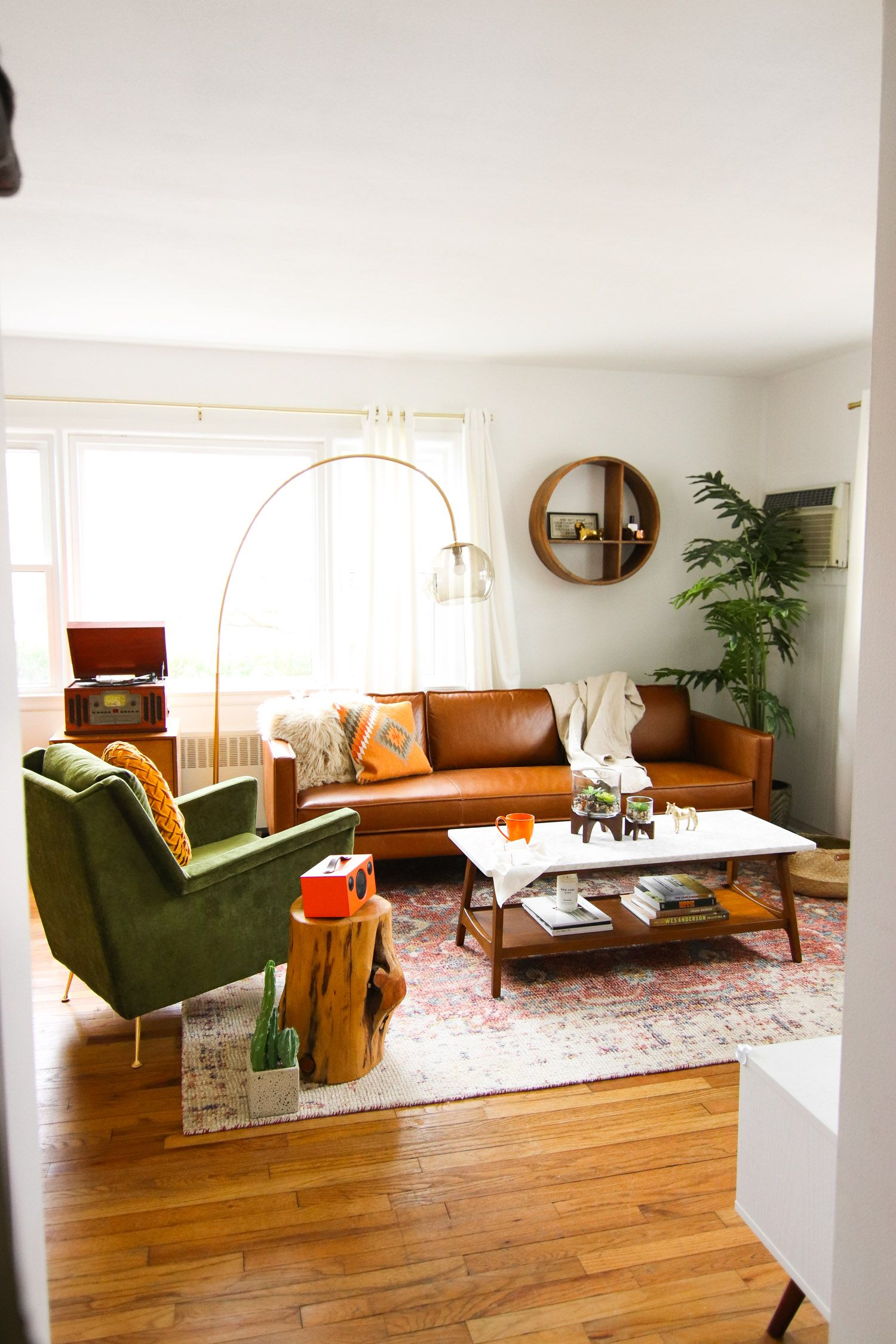 Surprise! Living Room Before + After With West Elm