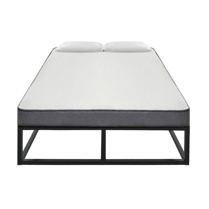 Porch Den Chatel Wood Slat Mattress Metal Platform Bed Frame