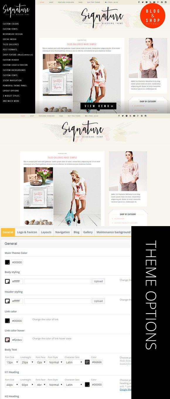 Signature Lifestyle Blog Wp Template Wordpress Blog Themes 4900