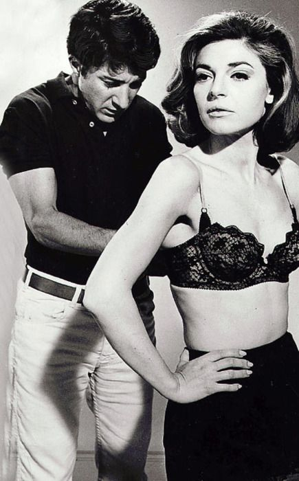 Dustin Hoffman & Anne Bancroft- The Graduate (1967) ( blimey... I still remember the awkward moments, watching this movie at home with my parents when I was 13.)