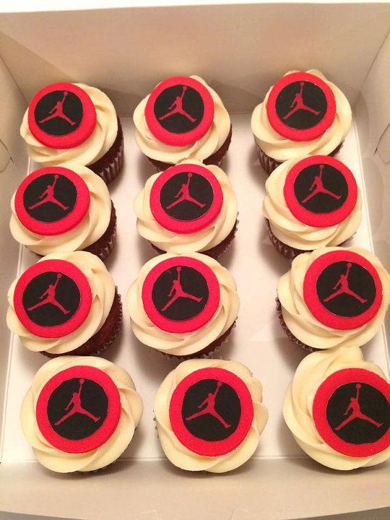 Michael Jordan Inspired Fondant Cupcake Toppers Fondant cupcake
