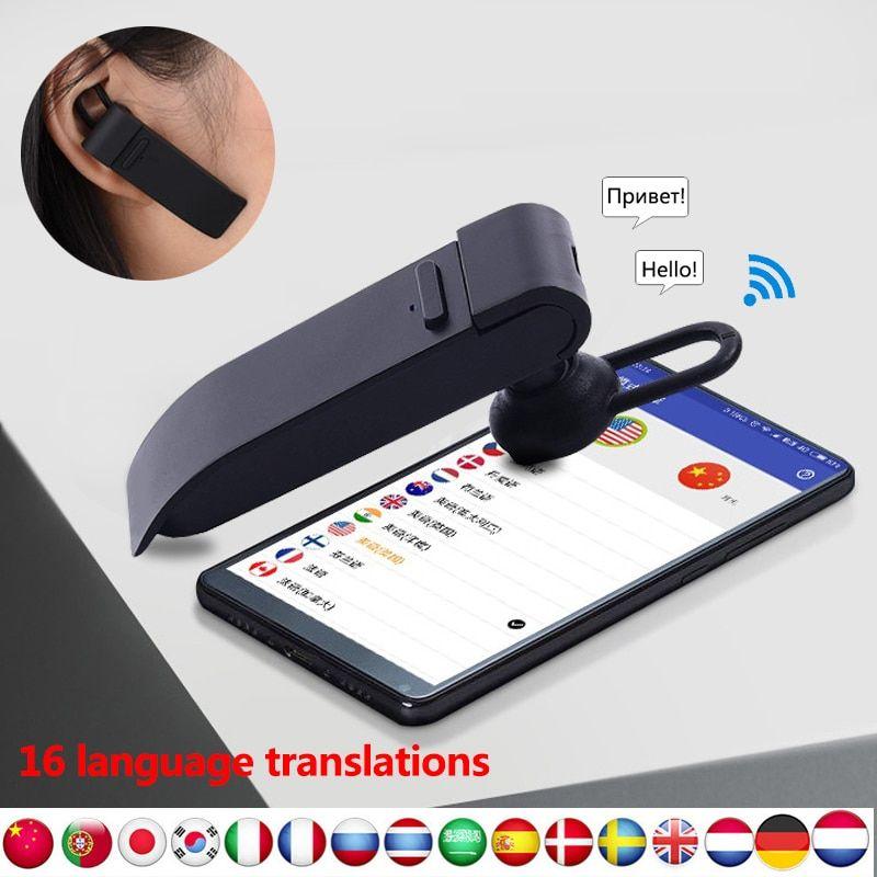 Mini Besprovodnoj Bluetooth Perevodchik Naushniki Smart 16 Yazykov