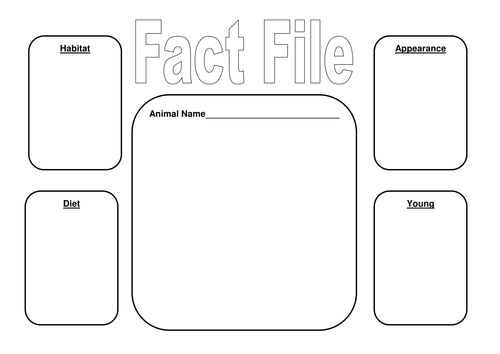Image Result For Blank Fact File Template