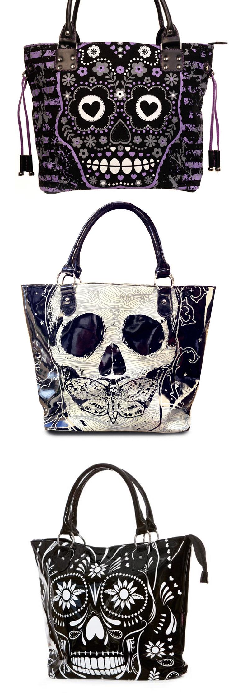 The Gothic Shop USA | Mochila de moda, Bolsa de calavera