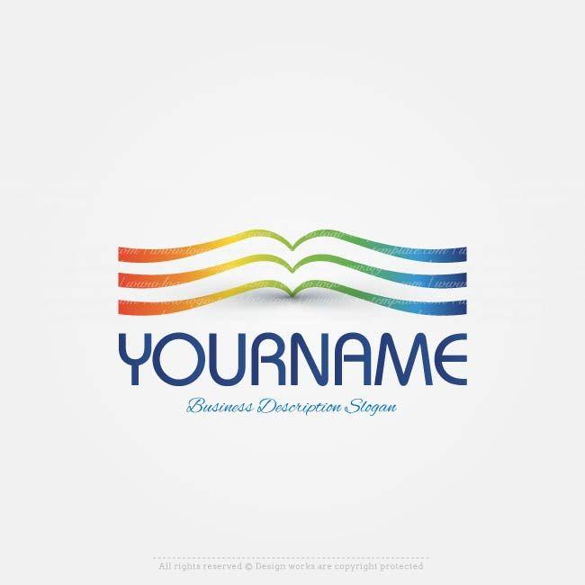 Booklogo Design: Create A Logo - Book Logo Template