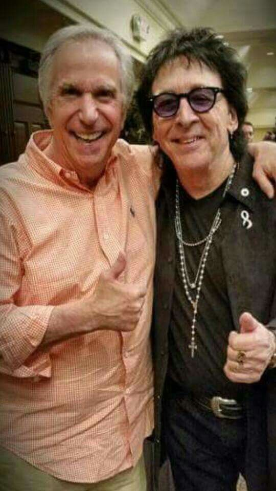 The Fonz And The Catman Peter Criss The Fonz Kiss Army