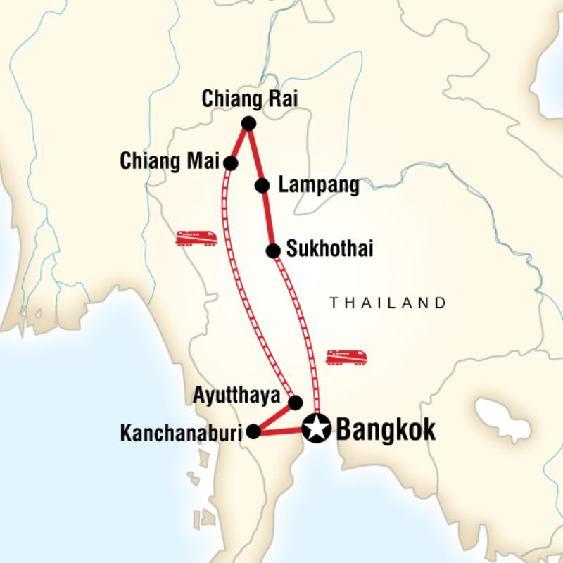Thailand Bangkok Kanchanaburi hiang Mai Chiang Rai Lampang