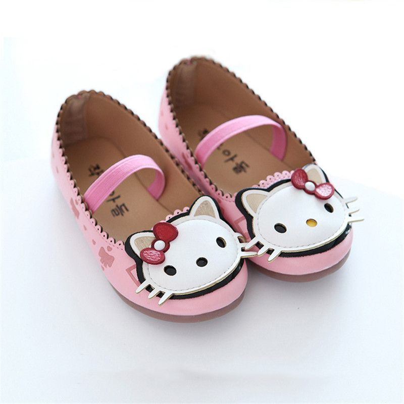 Click to Buy    cute baby girl causal shoes lovely hello kitty style ... 35827942dc62