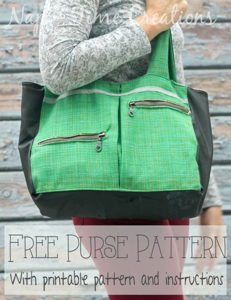 Free Purse Pattern with pockets on Nap-Time Creations | Pocketbooks ...