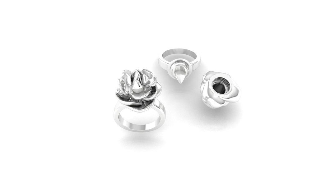 Rose Self Defense Women Jewelry Rings
