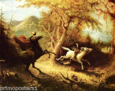 Headless Horseman Ichabod Quidor Repro Paper Canvas, $15