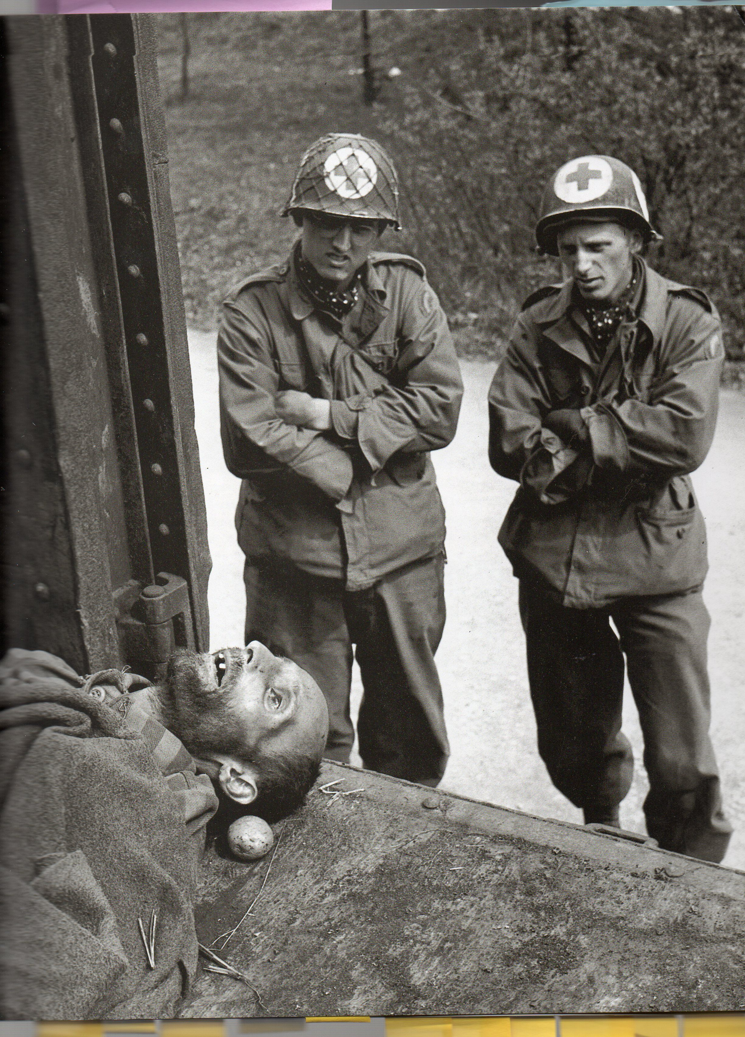 United States Medics From Rainbow Company With A Dead