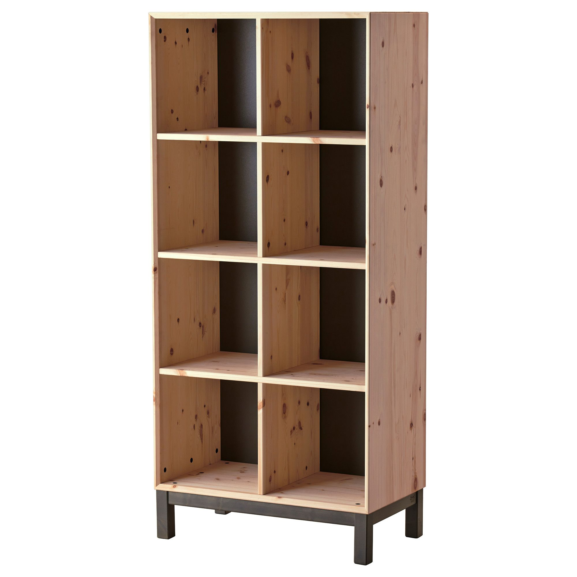 """IKEA NORN""""S Bookcase Untreated solid pine is a durable natural"""