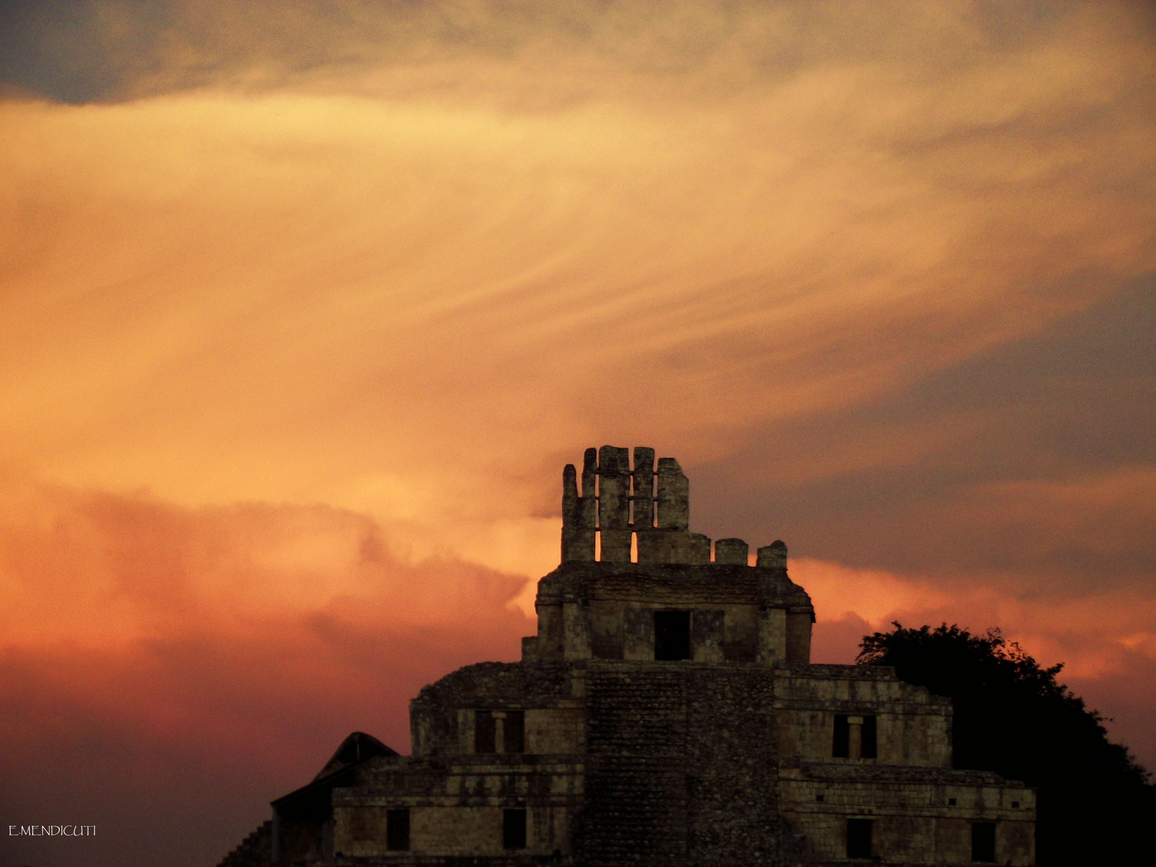 Edzna Campeche Mexico   Campeche City Monuments