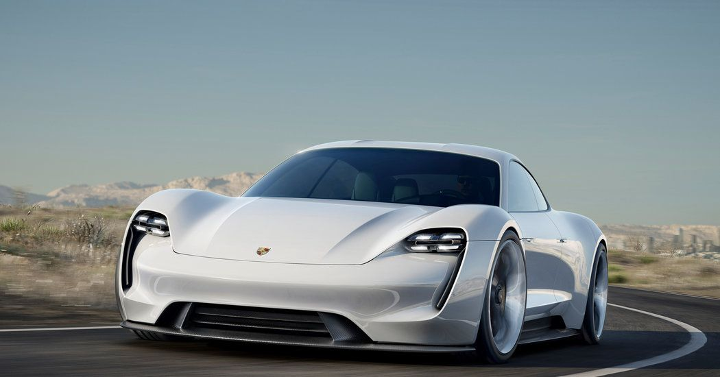 Porsche, Aiming At Tesla, Unveils Electric Concept Car