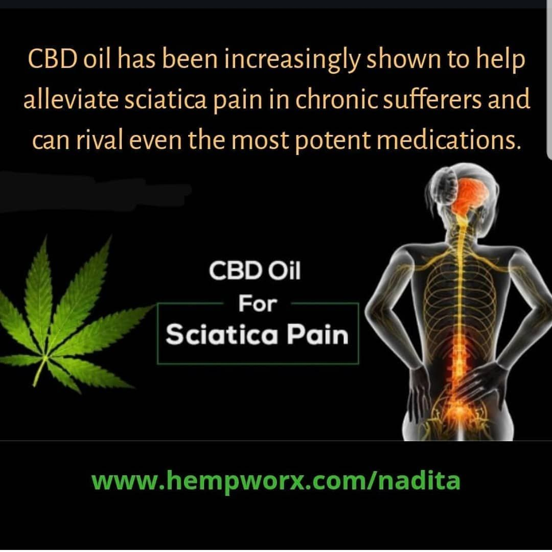 750 mg of CBD oil is highly recommended for sciatic nerve