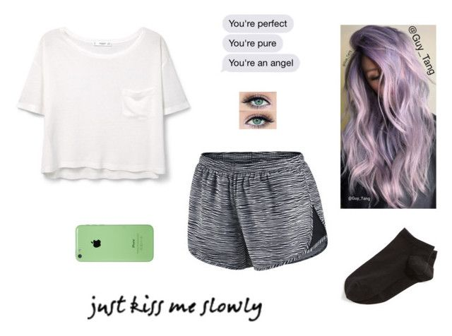 """""""~ I Don't Know What To Believe"""" by delahunty-ashton ❤ liked on Polyvore featuring MANGO, NIKE and Wolford"""