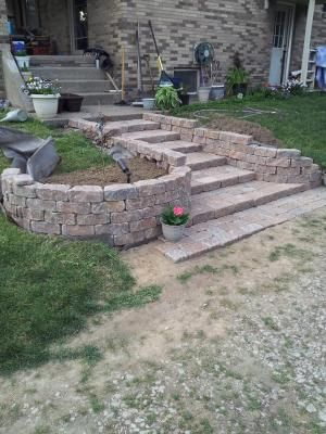 Shop Ashland Flagstone Retaining Wall Block Common 11 In X 4 In Actual Retaining Wall Retaining Wall Block Patio Projects