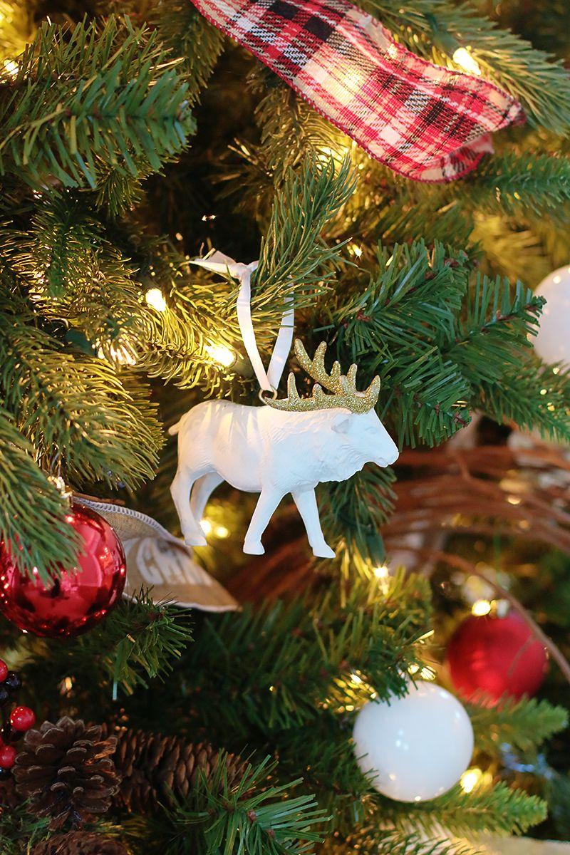 Criança ornamentos de Natal amigável