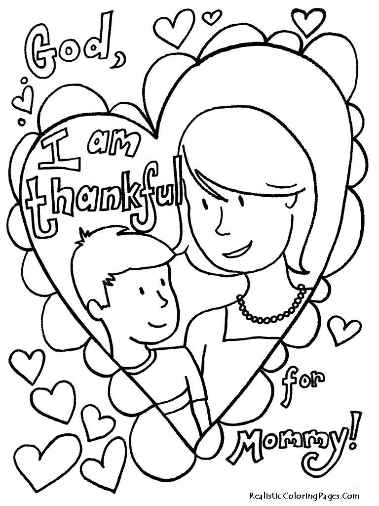 Christian Childrens Coloring Pages For Mothers Day