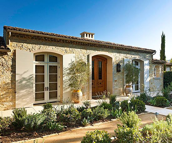 Limestone, shutters, olive trees