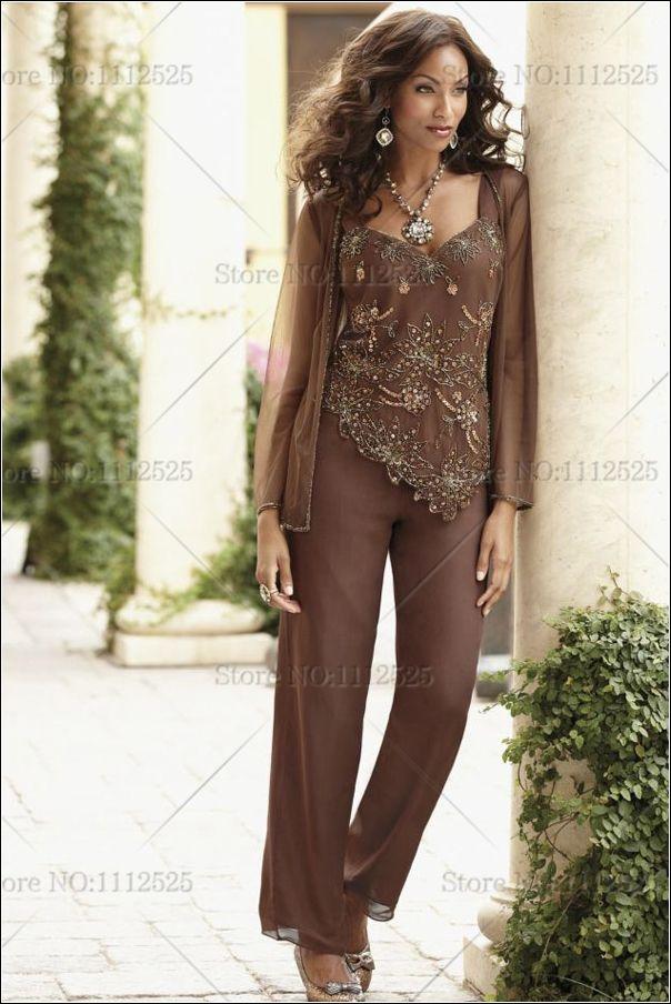 Midnight Velvet Brand New Copper Beaded Pant Set Misses Size Large ...