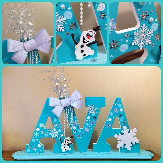 Personalized frozen themed wooden name stand by for Business name ideas for crafts