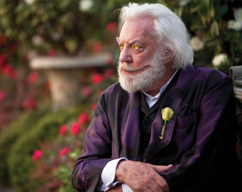 The book version of President Snow is strikingly different ...