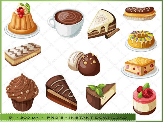 desserts clipart cake and pie clipart for scrapbooking rh pinterest com cliparts desserts gratuits clip art desert palm photo