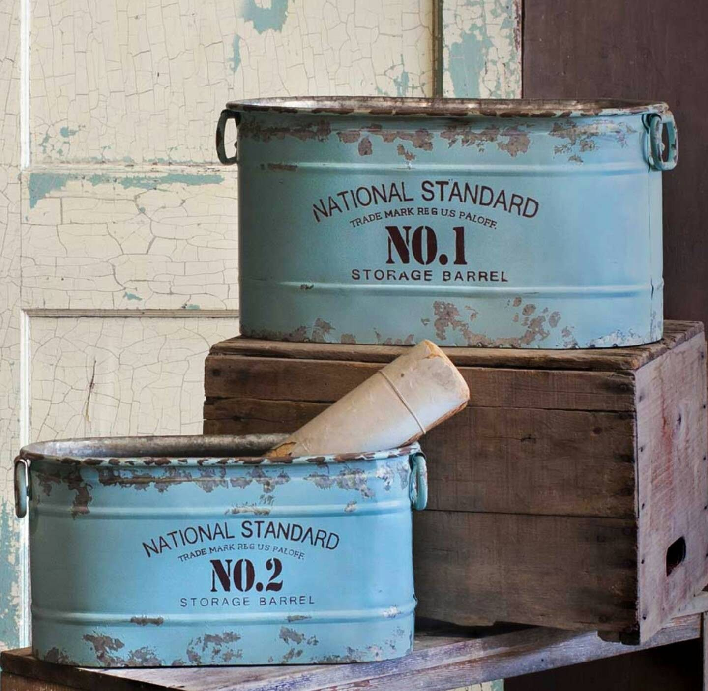 Blue metal storage tubs | Kitchen | Pinterest | Storage tubs, Tubs ...