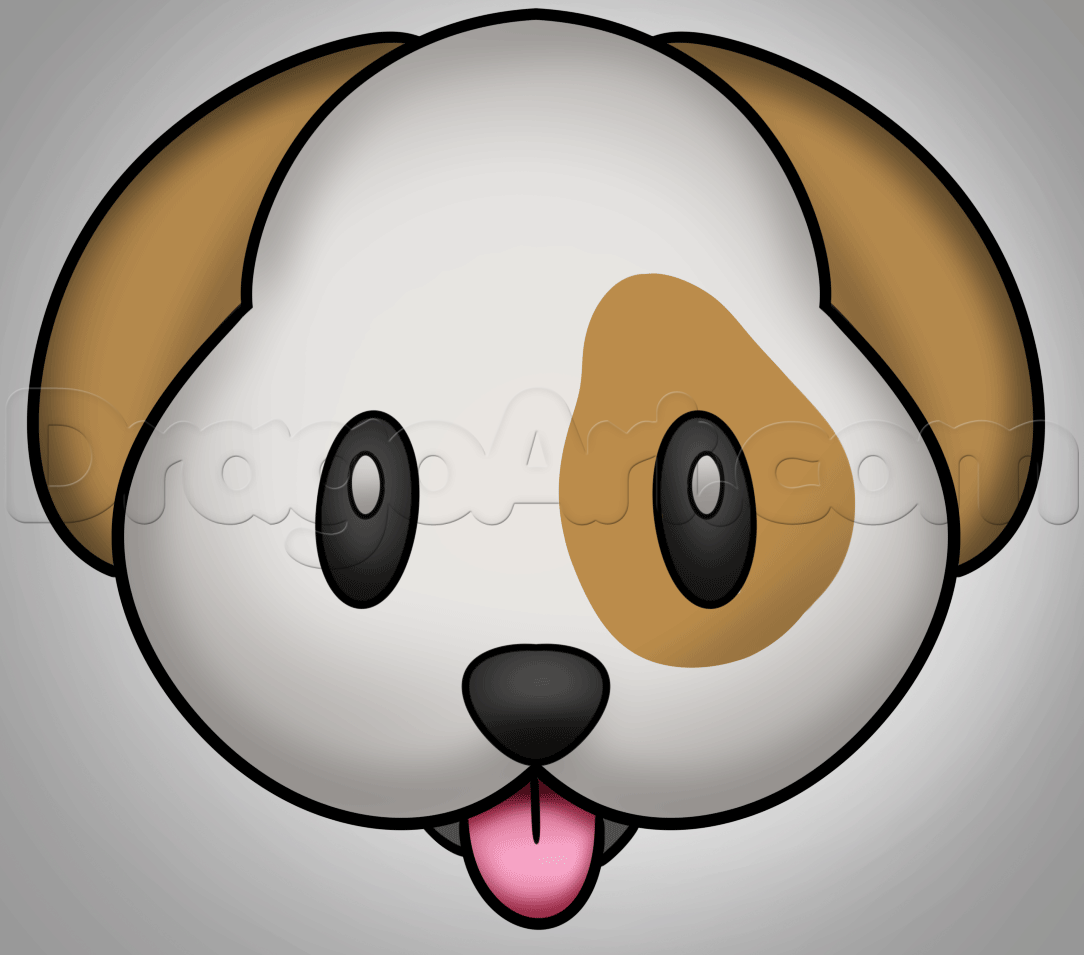 How To Draw The Dog Face Emoji