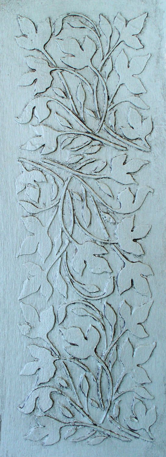 raised plaster stencil leaf panel wall stencil, painting stencil
