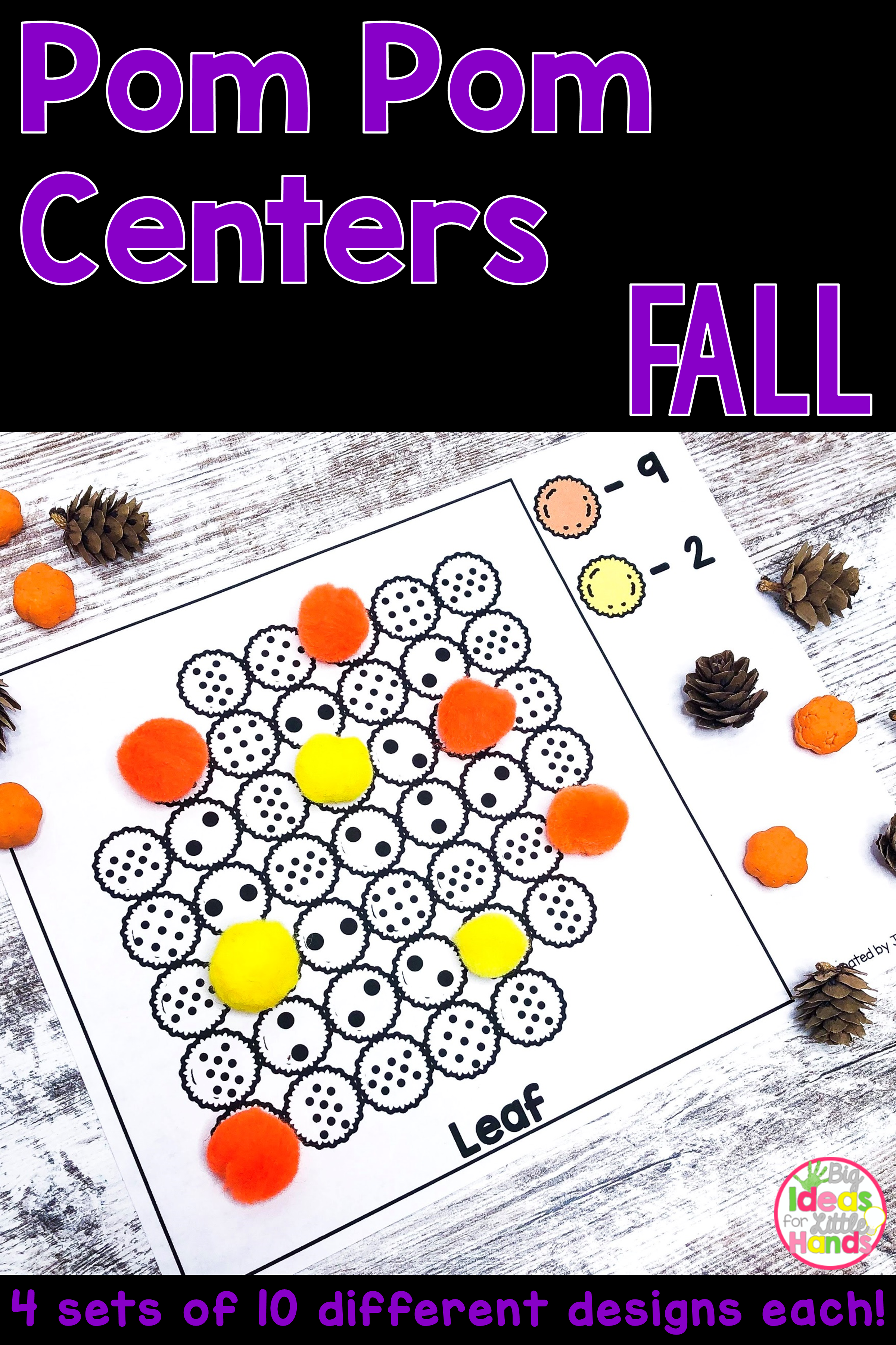 Fall Math And Literacy Pom Pom Activities