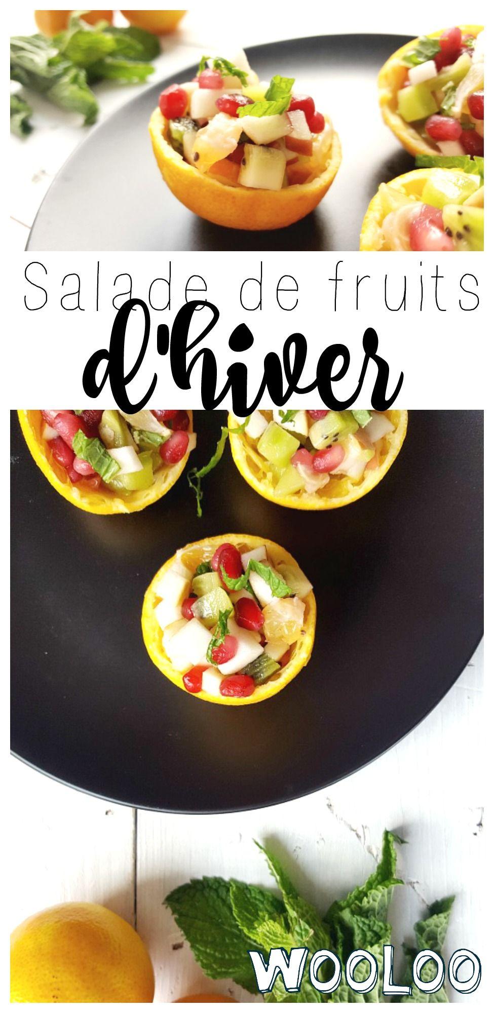 Voici la salade de fruits d'hiver parfaite pour mettre un peu de vitamines et de couleurs dans ta vie. #salade #fruits #recettes