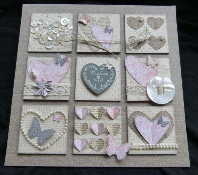 Avec des bouts de papier de tissu et de laine home deco coeurs roseline pinterest deco - Images avec des coeurs ...