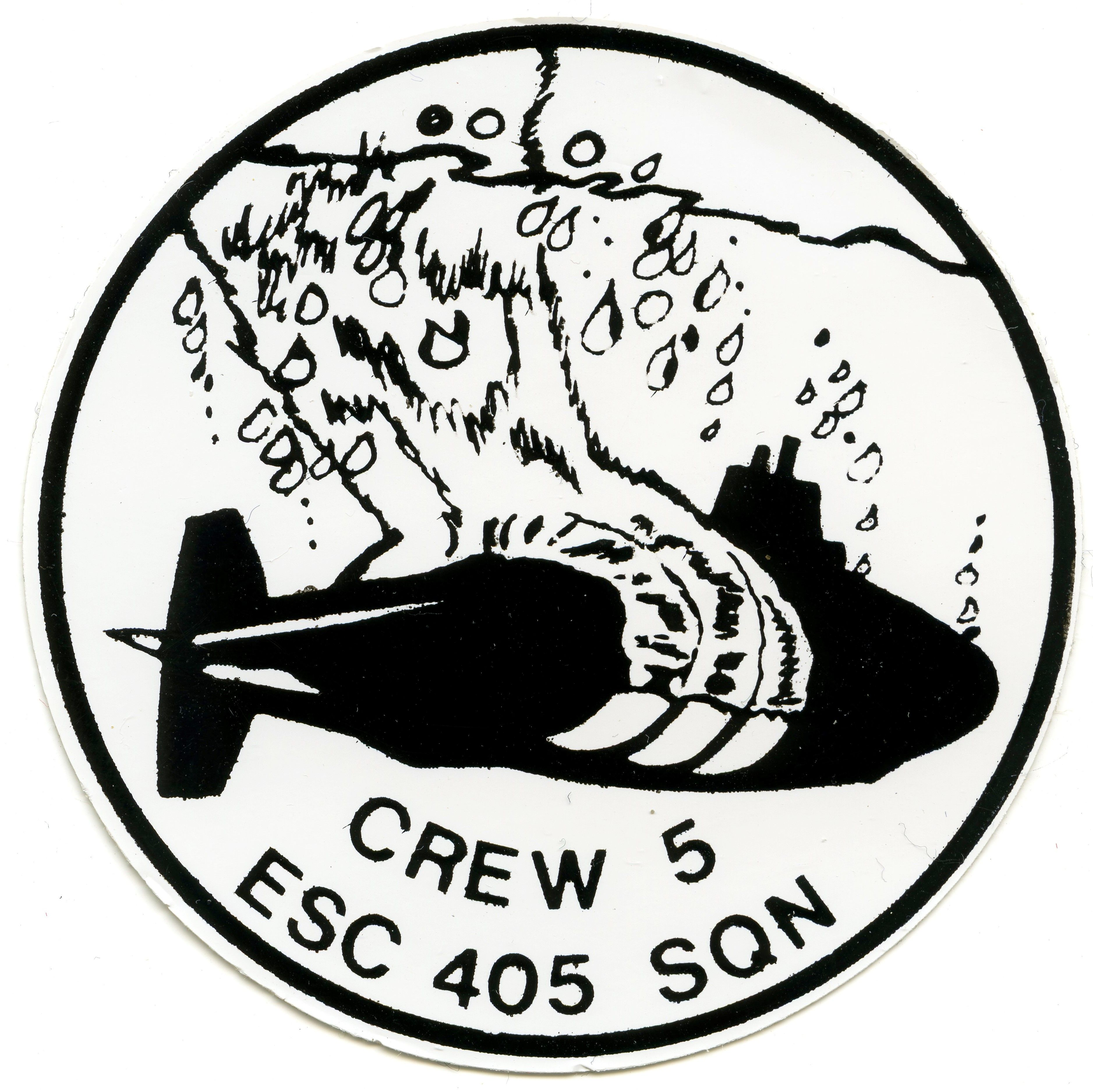 RCAF 405 Squadron (Crew 5) Sticker Stickers, Crew, Air