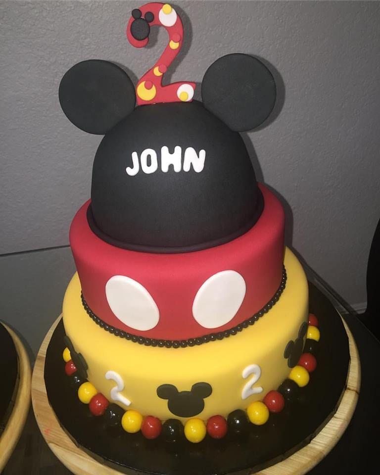 Mickey mouse 2nd birthday cake all edible cake fondant