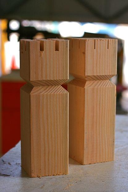 How To Make A Kubb Set Wood Games Diy Yard Games Lawn Games