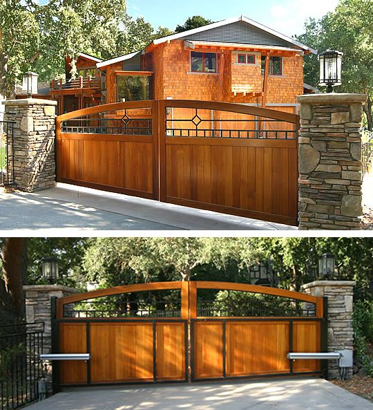 Craftsman Collection Driveway Gate With Mission Diamond