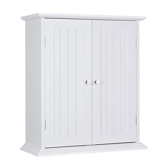 Choochoo Bathroom Medicine Cabinet 2 Door Wall Cabinet Wood Hanging Cabinet With Adjustable Shelves White Re Hanging Cabinet Wall Cabinet Wall Storage Cabinets