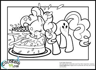 My Little Pony Pinkie Pie Coloring Pages Birthdays Pinterest