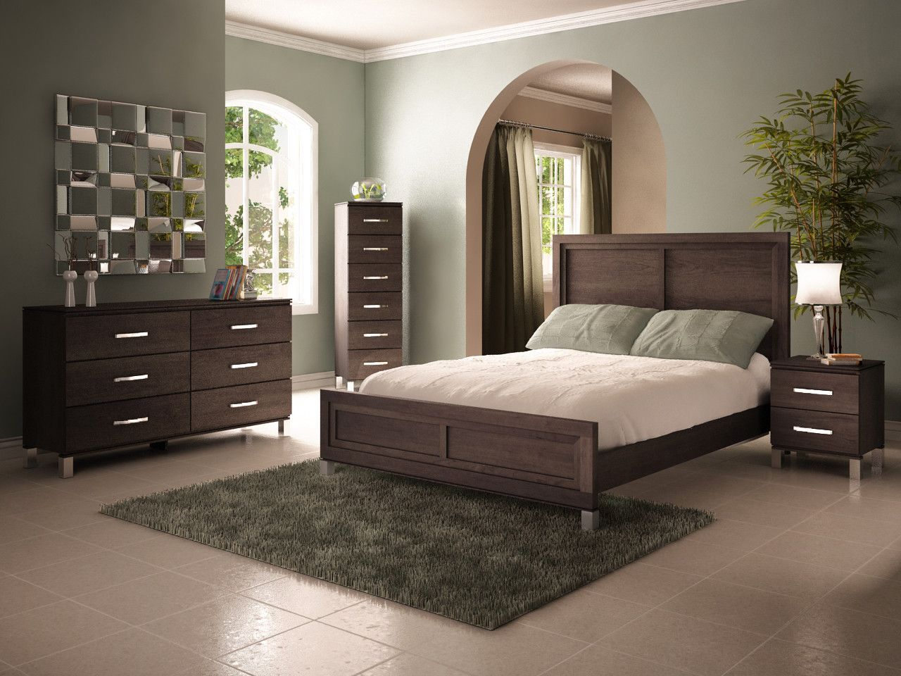 College Woodwork Cranbrook Panel Bedroom Collection