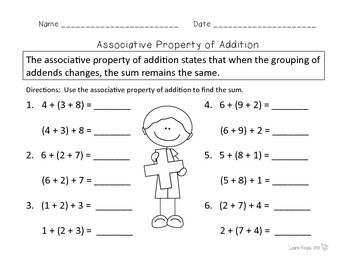 Properties Of Addition Easel Activity Distance Learning Properties Of Addition Math Number Sense Teaching Math Elementary