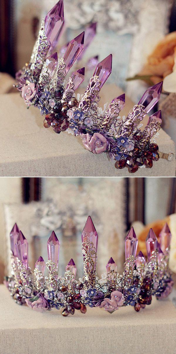 Barock Amethyst Brautkrone EWAHP051 ab 100 USD #JewelrybyMaterial Spetacular …