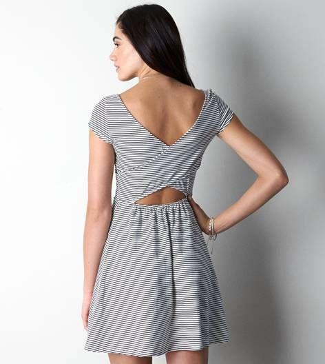 White  AEO Printed Kate Dress
