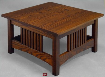 Square Mission Style Coffee Table
