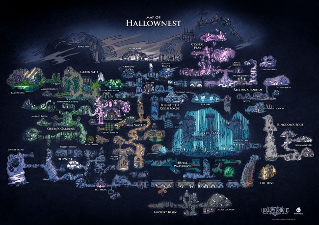 Mapa Completo Hollow Knight.Completed Hollow Knight Map 7 7 Hollow Art Knight Art