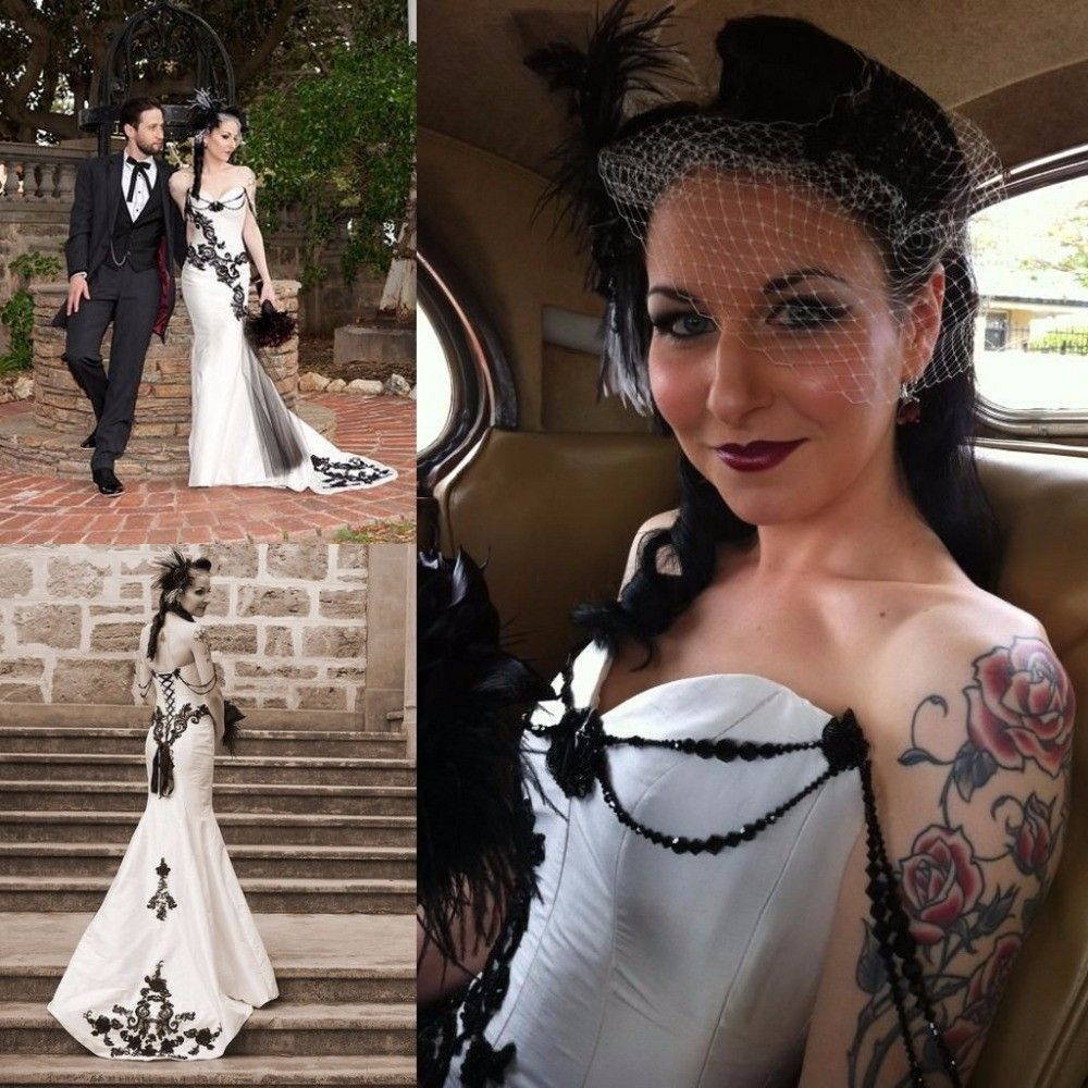 Gothic wedding shop - Cheap Corset Bridal Dress Buy Quality Corset Quinceanera Dresses Directly From China Dress Up Corsets Suppliers Black White Gothic Corset Wedding Dresses